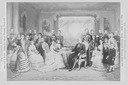 1878 German Kaiser Family Old Albumen Photo Montage Photographer - Gem .von E. Hader