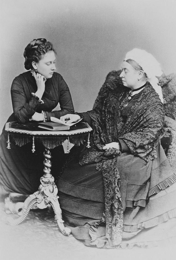 1879 Beatrice and Queen Victoria From indypendenthistory.tumblr.com