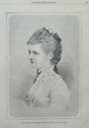 1879 Emma of Waldeck Pyrmont Queen Mother regent engraving