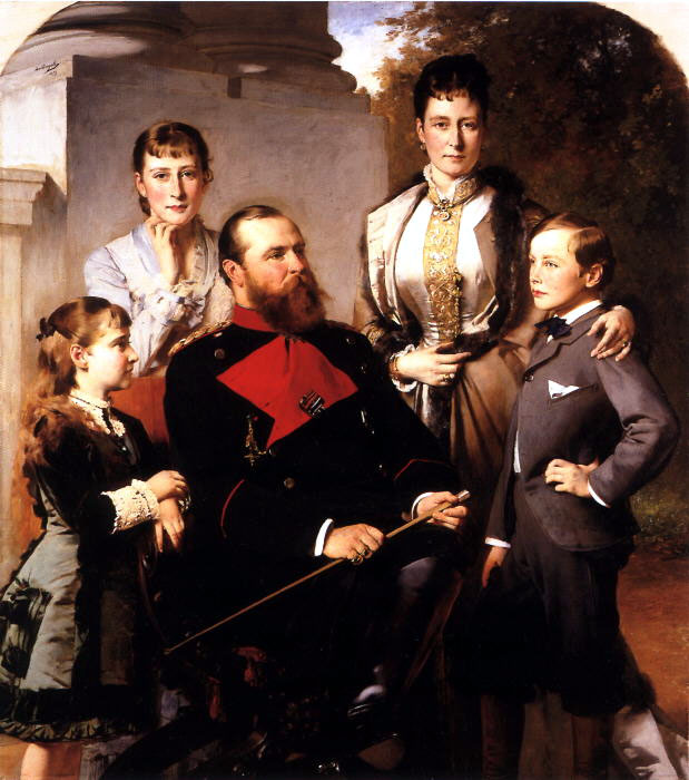 Princess Alice and family posthumous portrait
