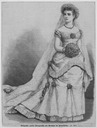1879 German illustration of Princess Luise Margarethe of Prussia's wedding gown