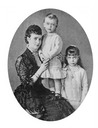 (1880) Dagmar and two children
