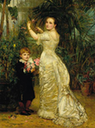 1880 Elizabeth Cavendish, née Dickinson and her son Tyrell by Mary Lemon Waller (auctioned by Sotheby's)