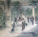 1880 Rudolph and Stéphanie at Laeken