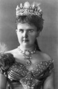 1882 Emma wearing diamond parure