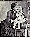 1882 Queen Emma wearing a snake bracelet with Princess Wilhelmina