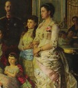 1883 Close up of Georgios, Alexandra and Olga from Tuxen's family portrait