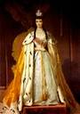 1883 Maria Feodorovna wearing court dress and robes
