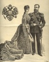 1883 Tsar Alexander III and Marie Feodorovna (?) drawing done for their coronation and published in le journal Illustree