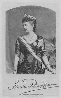 1884 Hariot Georgina Hamilton-Temple-Blackwood, Marchioness of Dufferin and Ava by Bourne & Shepherd From costumecocktail.com:2017:01:23:lady-dufferin-1884-88: detint