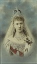 1884 Elizaveta Mavrikievna wearing a Russian wedding crown