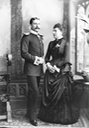1885 (April) Prince Henry of Battenberg and Princess Beatrice by Carl Backofen (Royal Collection) Wm