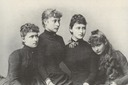 1885 Princesses Irene, Victoria, Elisabeth and Alix of Hesse and by Rhine by Carl Backofen
