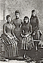 ca. 1885 Alexandra and her daughters