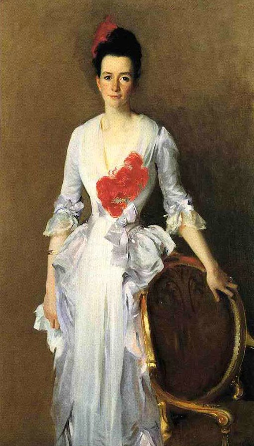 1886 Mrs. Douglas Dick (née Isabelle Parrott, wife of Archibald Campbell Douglas) by John Singer Sargent (private collection)