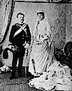 1886 King Carlos & Queen Amelie of Portugal wedding photo