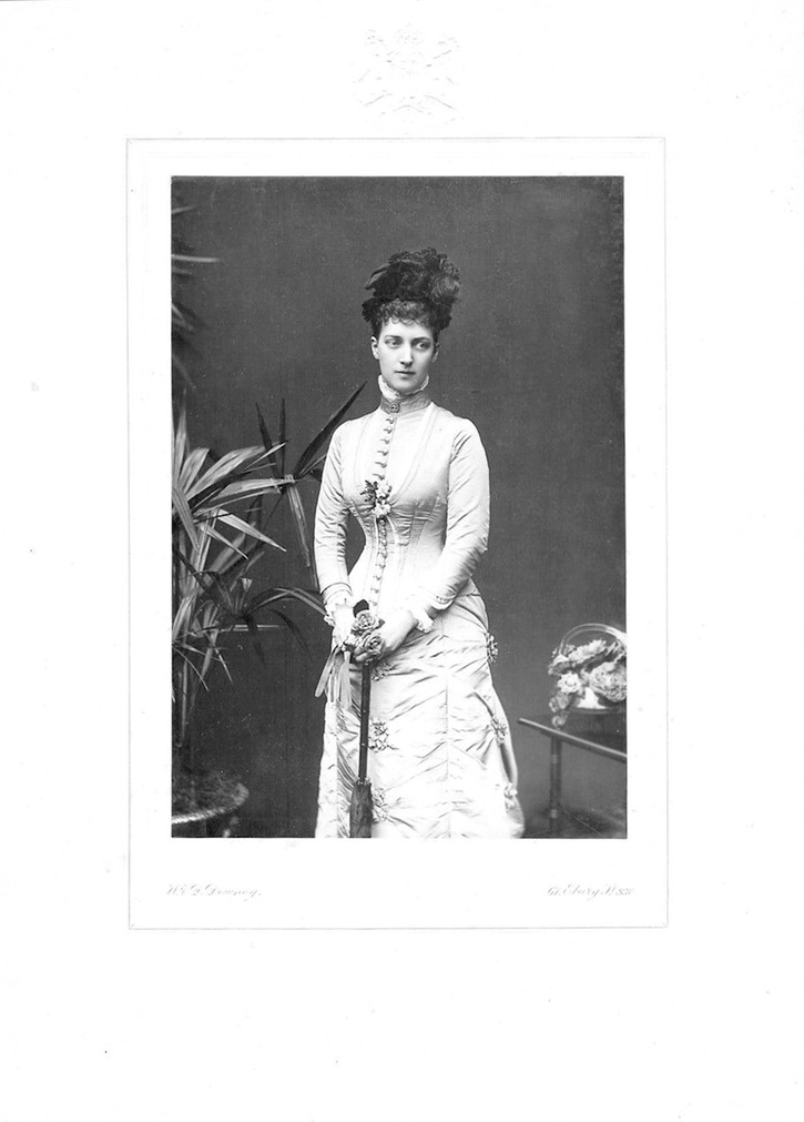 1887 Alexandra, Princes of Wales by W. & D. Downey EB