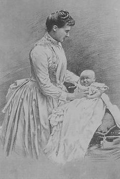 1887 Amélie Portugal with baby EB detint