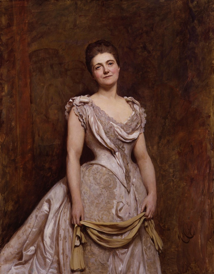 1887 Emilia Francis (born Strong), Lady Dilke by Sir Hubert von Herkomer (National Portrait Gallery, London)