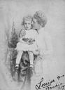 1887 Louise, Duchess of Beaufort and son Frankie card