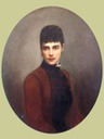1887 Oval portrait of Empress Maria Feodorovna by N. G. Schilder (Kursk Provincial Picture Gallery - Kursk, Kursk Oblast Russia)