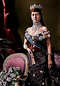 1887 Queen Alexandra colorized by justine