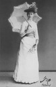 1888 Grand Princess Elizabeth carrying fan and parasol