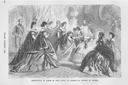"""1888"" Print Presentation of Ladies to Emperor & Empress of Austria at Budapest detint"