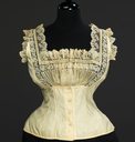 1889 Corset cover (Metropolitan Museum of Art - New York City, New York USA)