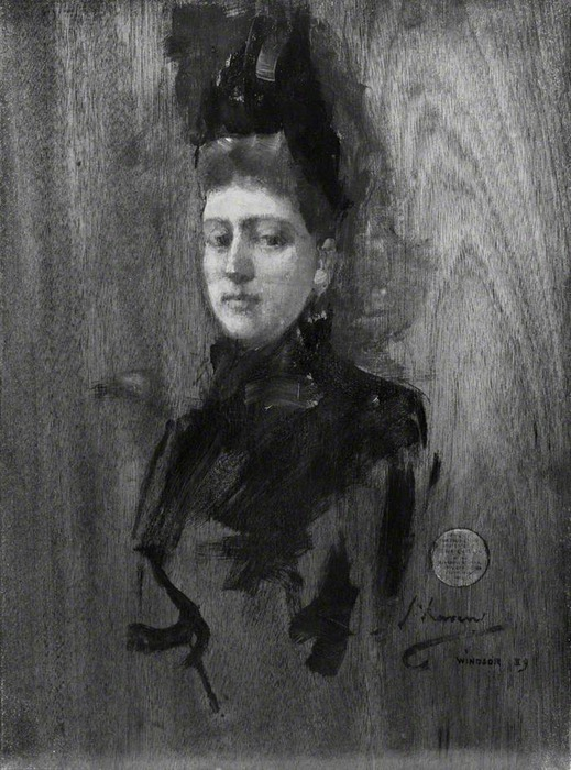 1889 HRH Princess Henry (Beatrice) of Battenberg (1857–1944) (sketch) by John Lavery (Glasgow Museums Resource Centre (GMRC))