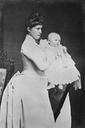 1889 Irene, Princess Henry of Prussia, and her son, Prince Waldemar From Royal Collection via pinterest.com/lyndira/henry-and-irene