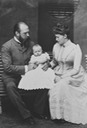 1889 (July) Grand Duke LudwigIV, Irene, and baby Waldemar From Royal Collection via pinterest.com/lyndira/henry-and-irene
