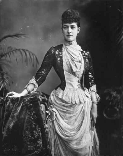 1889 Princess Alexandra wearing a jacket bodice