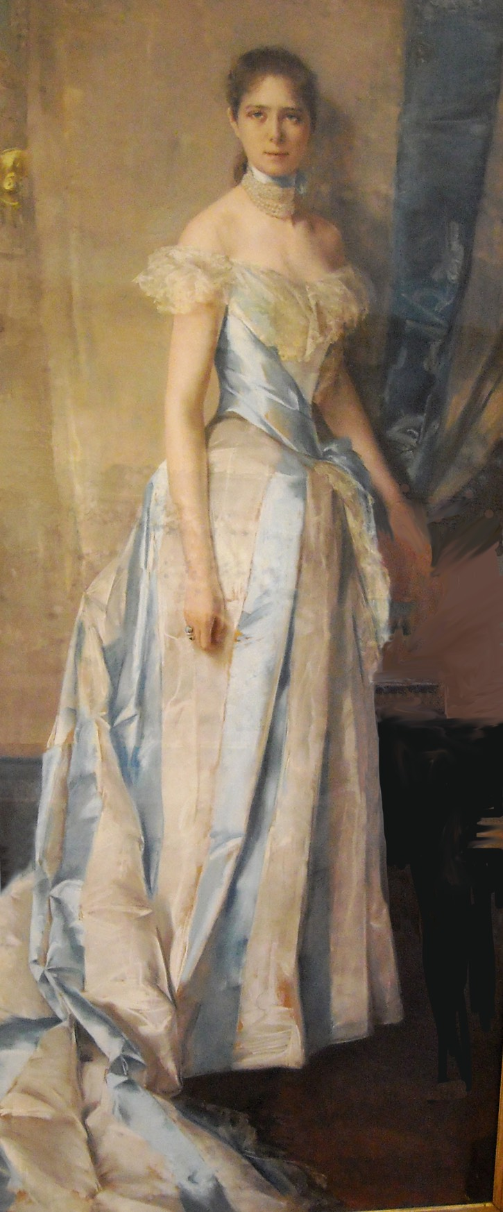 1889 Probably Maria Bianca Gallone, Princess Marsico Nuovo by Charles Hermans (Bruxelles 1839-1911) (Capodimonte Museum - Napoli, Campania, Italy) From Carlo Raso's photostream on flickr