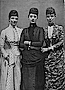 1889 Empress Marie of Russia, Alexandra, Princess of Wales and Thyra, Duchess of Cumberland