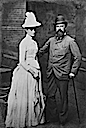 1889 (July) Louis IV, Grand Duke of Hesse, with Princess Alix (Royal Collection)