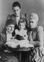 1890 Alexandra Georgievna with her mother, Olga Konstantinovna, and grandmother, Alexandra Iosifovna, and Maria Pavlovna the younger