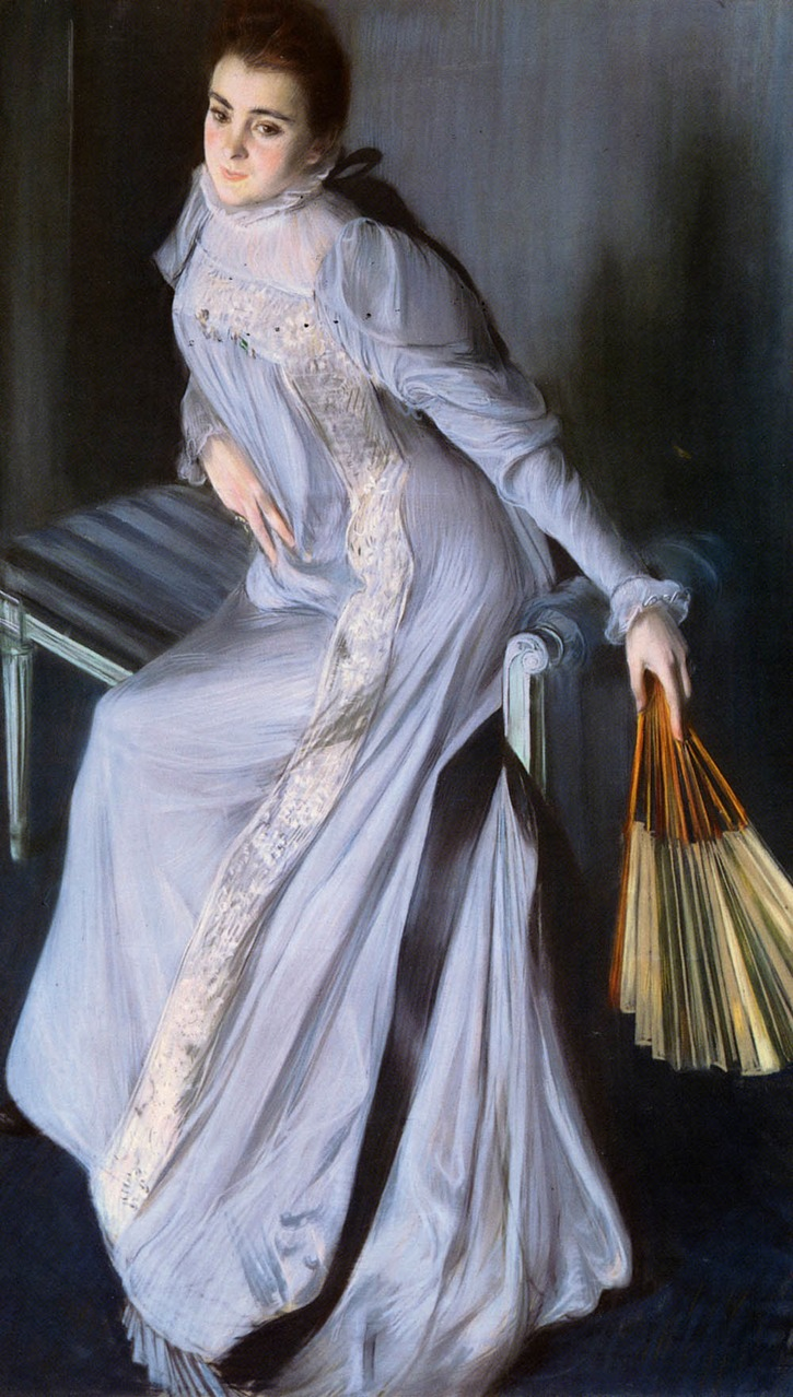 1890 Eugenia Huici de Errazuriz by Jacques Emile Blanche (private collection) From xaxor.com:oil-paintings:
