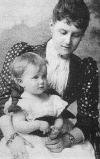 "1890 Marie Pavlovna the Younger, ""Masha,"" and mother, Alexandra Georgievna"
