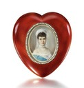ca. 1890 Faberge photo holder with Zehngraf miniature of Maria Feodorvna (Sotheby's)