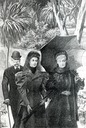 1890s Empress Eugénie with Elisabeth of Austria and Franz Joseph I, at Cap Martin by ?