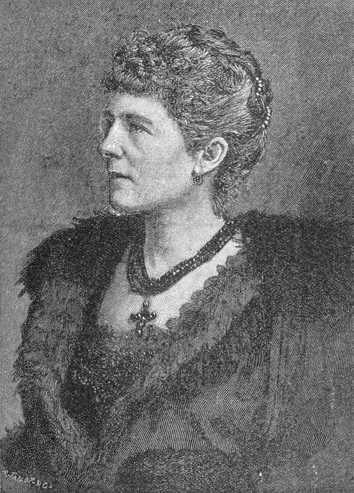 1891 Hariot Hamilton-Temple-Blackwood, Marchioness of Dufferin and Ava, etching from Le Monde illustré by R. Taylor & Co. Wm