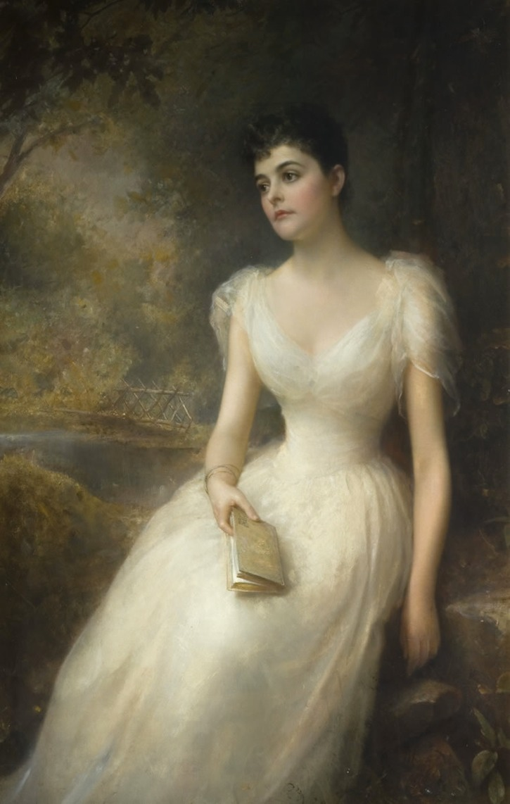 1892 Adele, second wife of the 7th Count of Essex by Edward Hughes (Watford Museum, Watford UK)