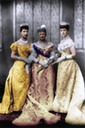 1893 Princess Alexandra with Queen Louise and the Duchess of Fife