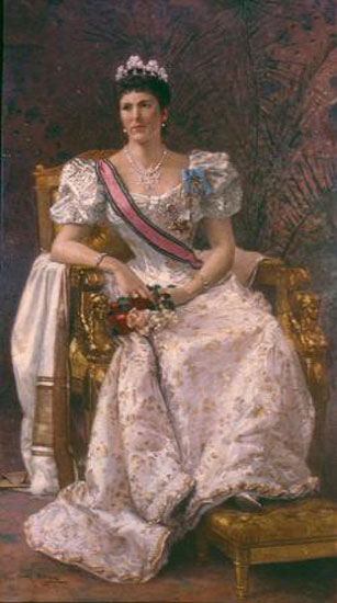 1893 Portrait of Hariot Georgina Rowan-Hamilton, Lady Dufferin (Vicereine of India) by Carl Gutherz (Memphis Brooks Museum of Art - Memphis, Tennessee USA)