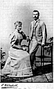 1894 Alexandra and Nicholas post card by Uhlenhuth