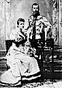 1894 Engagement picture of Alexandra and Nicholas by Sergei Levitsky