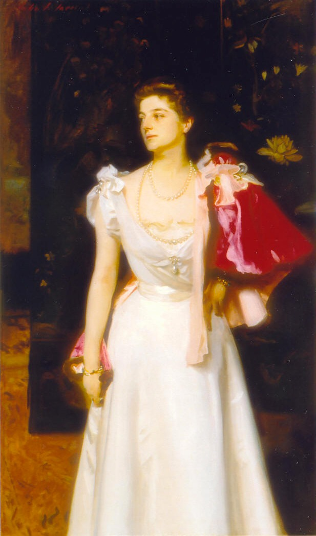 1895-1896 Princess Demidoff, Helene Petrovna Demidova, Princess of San Danto by John Singer Sargent (destroyed by bombing during WWII)