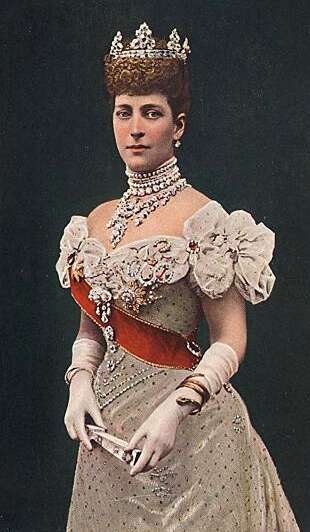 1896 Colorization of well-known photo of Alexandra cropped