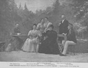 1896 Archduke Joseph Karl Ludwig of Austria and his family with guests by Lipót Strelisky